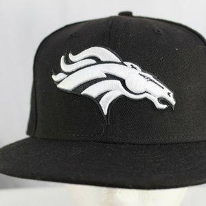 Denver Broncos NFL Baseball Hat Black Fitted 8 (63